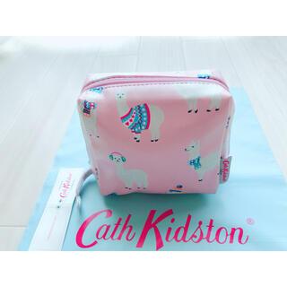 キャスキッドソン(Cath Kidston)の【新品未使用】キャスキッドソン スクエア メイクアップバッグ ミニアルパカ(ポーチ)
