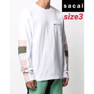 sacai - sacai コットン ジャージー ロングスリーブTシャツ サイズ3