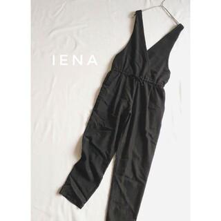 IENA - IENA イエナ ピンストライプサロペット 黒 36