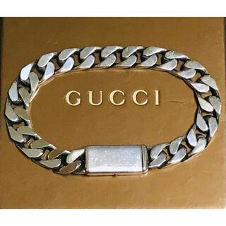 Gucci - 正規品 GUCCI グッチ シルバー 喜平 ブレスレット 中古 ①