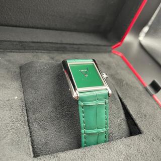 カルティエ(Cartier)のカルティエ タンクマストLM 2021年新作 WSTA0056 グリーンダイヤル(腕時計(アナログ))