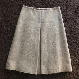ミュウミュウ(miumiu)のミュウミュウ ウール ボックス スカート(ひざ丈スカート)