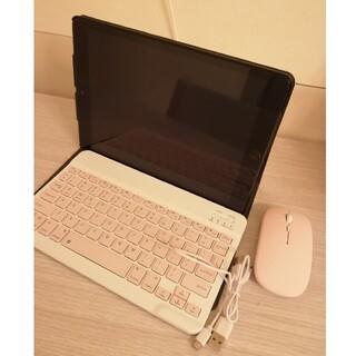 iPadケース 10.2インチ キーボード・マウス付き マーブル柄 大理石