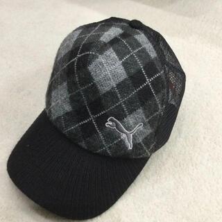 PUMA - プーマ アーガイルチェック柄  メッシュキャップ  ゴルフ