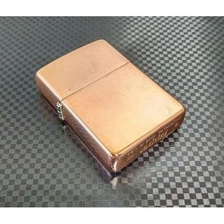 ZIPPO - ZIPPO Solid Copper [飴色]ヘアライン 2002年製(希少)