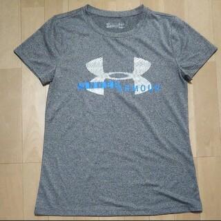 UNDER ARMOUR - アンダーアーマー ヒートギア ビックロゴ Tシャツ 半袖 レディース