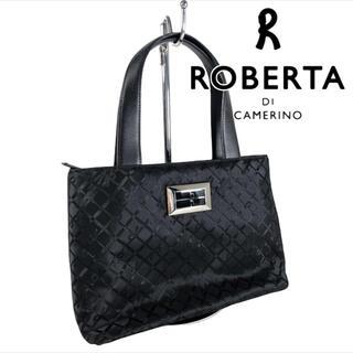 ロベルタディカメリーノ(ROBERTA DI CAMERINO)の✨美品✨ RobertadiCamerino レザー x ナイロン トートバッグ(トートバッグ)