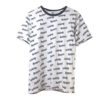 ヒステリックグラマー(HYSTERIC GLAMOUR)のヒステリックグラマー HYSTERIC GLAMOUR 総ロゴ Tシャツ 白 S(Tシャツ/カットソー(七分/長袖))