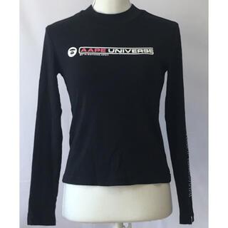 アベイシングエイプ(A BATHING APE)のアベイシングエイプ、ロンTシャツ カットソー、サイズXS、5号。(Tシャツ/カットソー(七分/長袖))