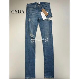 GYDA - 新品タグ付き GYDA SIDE RIPPED サイドリップドスキニーデニム