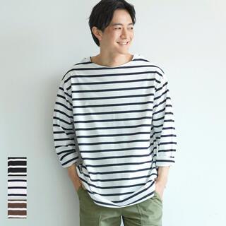 coca ボーダーロングTシャツ メンズ 長袖