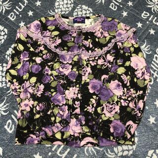 アナスイミニ(ANNA SUI mini)のアナスイミニ 花柄カーディガン 130サイズ(カーディガン)