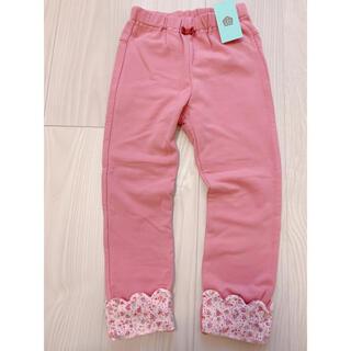 サンカンシオン(3can4on)の新品未使用タグ付き ピンク 花柄 ストレッチパンツ 120(パンツ/スパッツ)