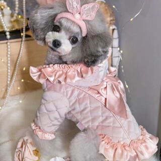 プリンセス ピンク リポン ベロア コート サテン 裏起毛 アウター