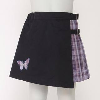 アナスイミニ(ANNA SUI mini)のANNA SUI mini  ラップ チェック スカパン 130(スカート)