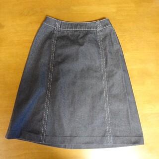 フェリシモ(FELISSIMO)のフェリシモ黒ジーンズ膝下丈スカート(ひざ丈スカート)