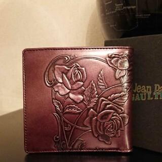 ジャンポールゴルチエ(Jean-Paul GAULTIER)の【激レア】ジャンポールゴルチエ ニューローズ ボルドー 新品未使用 2つ折財布(財布)