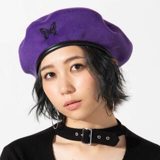 WEGO - WEGO\蝶々刺繍のベレー帽