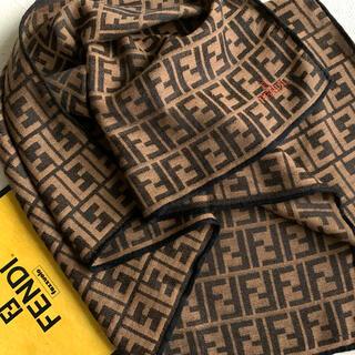 FENDI - フェンディ シルク混スカーフ ① ★美品★ケース付♪
