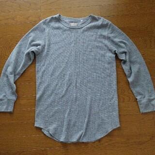 ビームス(BEAMS)のBEAMS サーマルロングTシャツ グレー*ワッフル コットン シンプル 無地*(Tシャツ/カットソー(七分/長袖))