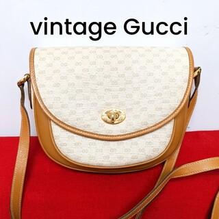 Gucci - 美品 レア!Gucci マイクロGG ビンテージショルダーバッグ ターンロック