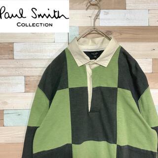 ポールスミス(Paul Smith)のPaul Smith ポールスミスコレクション ポロシャツ 長袖 ラガーシャツ(ポロシャツ)