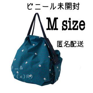 familiar - 新品未開封 ファミリア シュパット M 青系チェック XB ファミリアエコバッグ