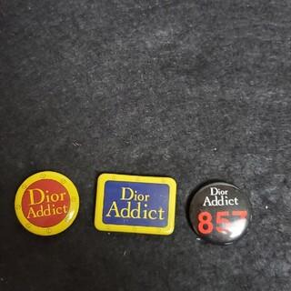 ディオール(Dior)のDior缶バッチ3個(バッジ/ピンバッジ)