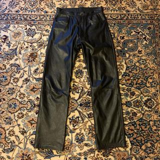 HELMUT LANG - 90s Vintage 5P Cow Leather Pants