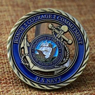 【非売品】US Navy アメリカ合衆国海軍のチャレンジコイン(その他)