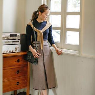 ドゥロワー(Drawer)のBLUELEA ブルレア レザーパイピングチェックスカート(ひざ丈スカート)