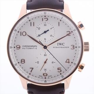 インターナショナルウォッチカンパニー(IWC)のアイダブリューシー ポルトギーゼ 750×社外革   メンズ 腕時計(腕時計(アナログ))