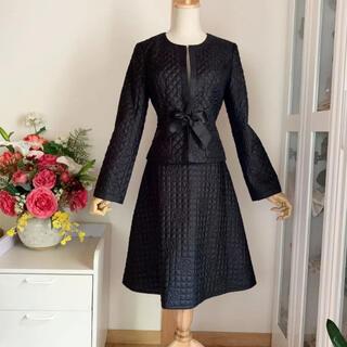 M'S GRACY - 美品エムズグレイシー  キルティング 薄手中綿ジャケット&スカート セットアップ