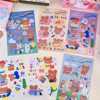 Milkjoy 新作 ♡ くま ステッカー 4種セット♡ 海外 シール 韓国