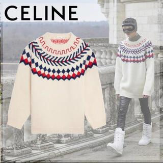 celine - CELINE 21aw オーバーサイズ シェトランド ウールセーター
