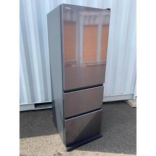 ヒタチ(日立)の日立 冷凍冷蔵庫 自動製氷 デザイン家電 ガラストップ 375L 2020 美品(冷蔵庫)