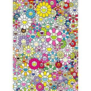 300枚限定 村上隆ポスター シャンペンスーパーノヴァ:マルチ+ピンクと白のしま(印刷物)