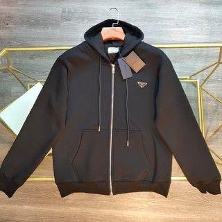 PRADA - PRADA2021ss冬服男性用フードにベルベットコートを入れる