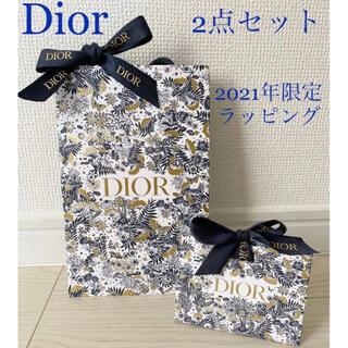 Dior - 【新品未使用】ディオール  限定 ショッパー クリスマス 紙袋 ラッピング