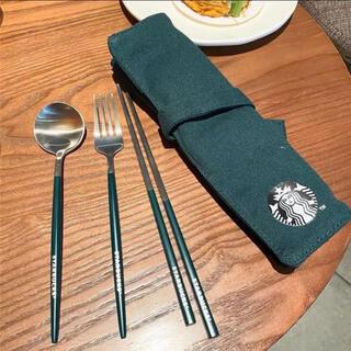 スターバックスコーヒー(Starbucks Coffee)の【スターバックス海外限定】日本未発売 スプーン 箸 フォーク カトラリー(カトラリー/箸)