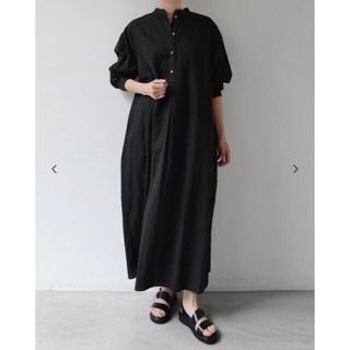コモリ(COMOLI)のwirrow cotton linen stand collor シャツドレス(ロングワンピース/マキシワンピース)