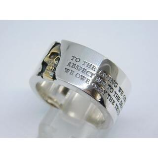 ドクターモンロー(Dr.MONROE)の美品 21号 ドクターモンロー silver925 × K18 スカル リング(リング(指輪))