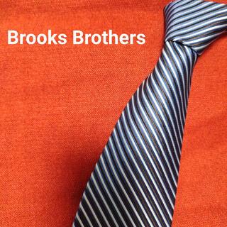 ブルックスブラザース(Brooks Brothers)のブルックスブラザーズ ネクタイ 高級 シルク100 ストライプ ブルー系 j16(ネクタイ)