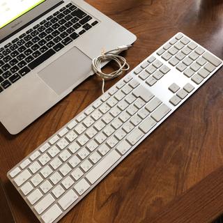 マック(Mac (Apple))のApple アップル 純正品 USB有線キーボード 良品 No3(PC周辺機器)
