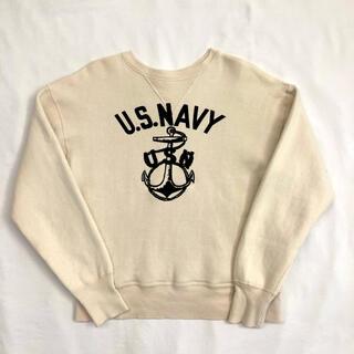 ウエアハウス(WAREHOUSE)のUS.NAVY 海軍 フロッキープリント 丸胴 スウェット ウェアハウス(スウェット)
