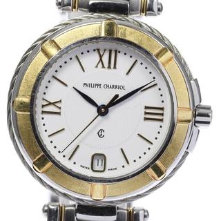 シャリオール(CHARRIOL)のシャリオール ケルティック デイト  クォーツ レディース 【中古】(腕時計)