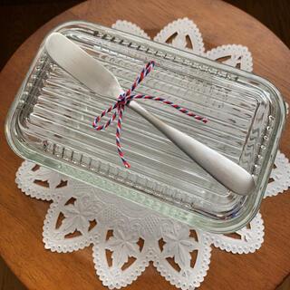 ガラスのバターケース/ ツバメ 燕 カトラリー バターナイフ