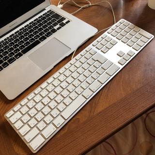 マック(Mac (Apple))のApple アップル 純正品 USB有線キーボード ジャンク品 難あり(PC周辺機器)