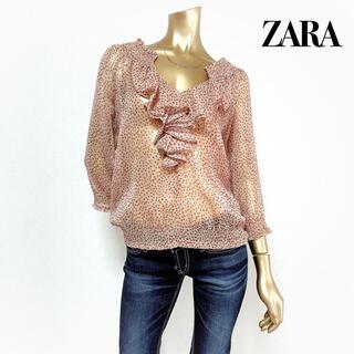 ZARA - ZARA フリル シフォン ブラウス*ベルシュカ H&M GU マウジー スライ
