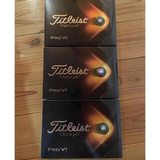 Titleist - 日本販売モデル 領収書可 3箱 2021年 prov1 ゴルフボール 3箱セット
